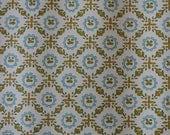 Vintage Wallpaper - by the yard - 1970's Diamond Leaf Pattern