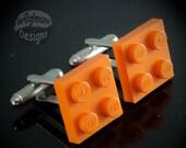 LEGO Orange Tile Cufflinks