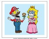 Super Mario Love Archival Print 8 x 10