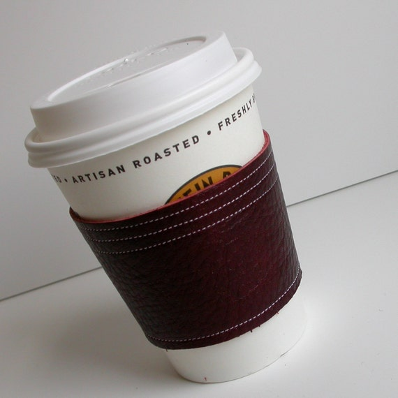 Leather Cup Cozy - Eco-friendly