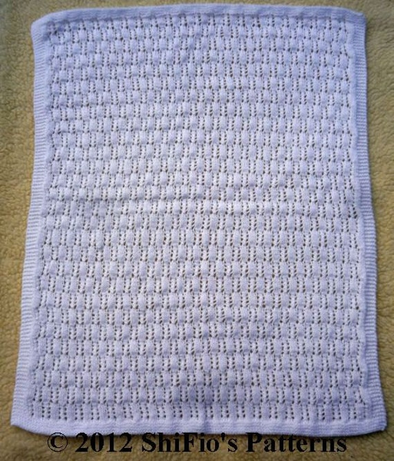 KNITTING PATTERN For 3 Baby Pram Crib Cot Blanket, Afghan ...