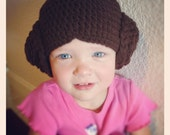 Princess Leia Star Wars hat: infant, toddler, child or adult size. Nice and warm and also great for dress up
