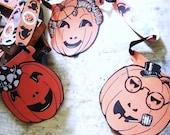 Vintage Halloween Garland Jack O Lantern Decoration
