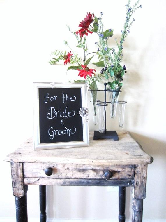 Vintage Silver Chalkboard  Wedding Reception or Home Decor