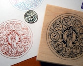 Zodiac sign the 7 classical planets + Sun & Moon rubber stamp P15