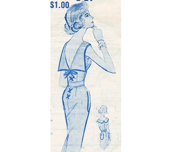 1960s RARE- MODES ROYALE Dress Pattern  - Bust 34