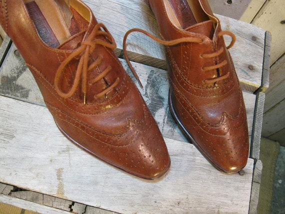 Oxford shoes Wingtip Brown Leather brogue menswear  8