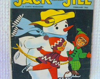 Vintage Jack and Jill Childrens Magazine - February 1961 - Winter Issue - Great images