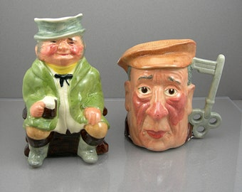 Toby JUGs by Kelsboro Ware, Made in England, The Coachman & The Watchman, Toby Mugs, Vintage