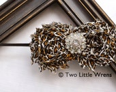 Zoe Luxe Flower Headband - Leopard Print Flowers with Jewel Center - Baby Headband to Adult Headband - SPRING SALE - See Shop