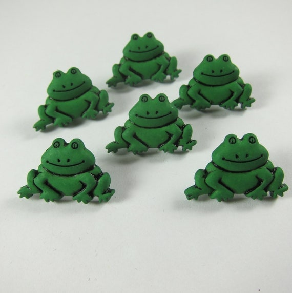 Green Frog Novelty Buttons