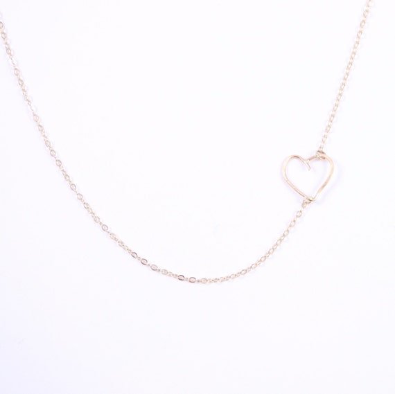 hold me tight sideways necklace in 14k gold