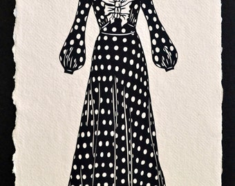 SALE 20% OFF // Starlet Dress  - Hand-Cut Silhouette Papercut // Coupon code: SALE20