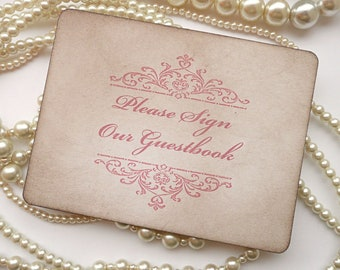 Wedding Sign, Guestbook Sign Pink, Wedding Table Numbers, Pink Wedding, Sign the Guestbook, Cards Sign