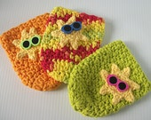 Can or Bottle Cozy, set of 3, Summer Sun
