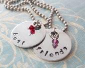Handstamped Best Friend Necklaces - ON SALE