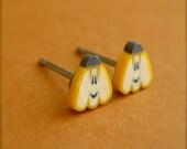Tiny Pumpkin Stud Earring, Halloween Gift for Girls