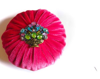 "4"" Pink Emery Pincushion / Pin Cushion"