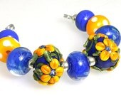 LeahBeads-Basket of Marigolds-Beautiful and Bright Flower Beads