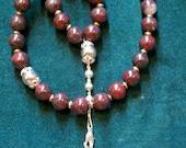 33 Bead Brecciated Jasper Chotki - Orthodox prayer beads in free drawstring gift pouch with prayer card - S&H inc