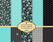 Clarity Digital Paper Packs for Scrapbooking, invites, cards