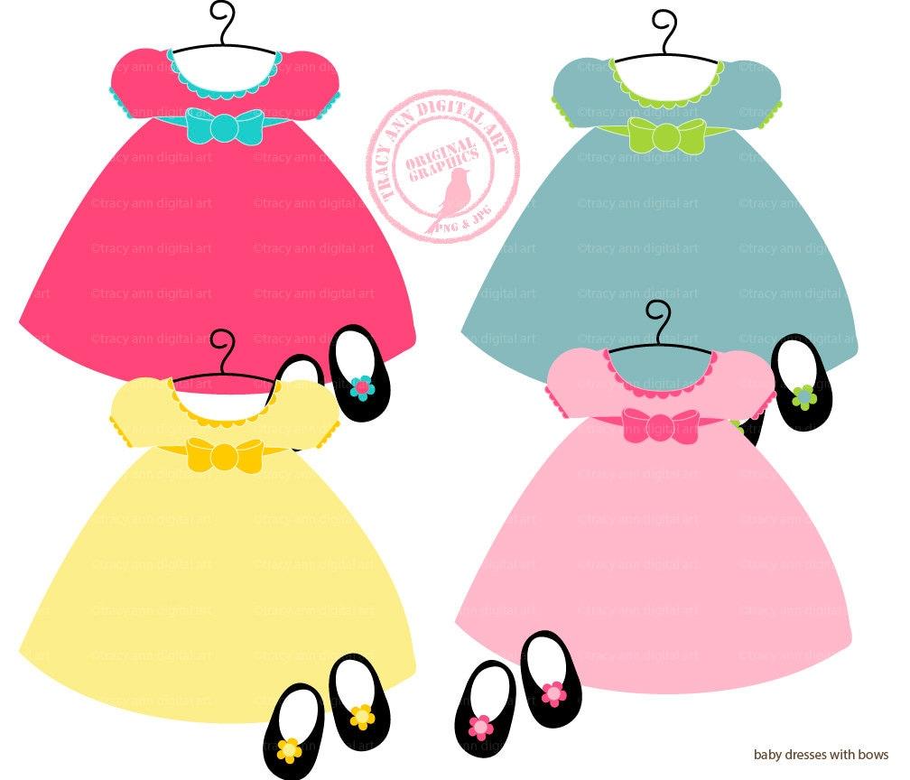 Baby Doll Dress Clip Art by TracyAnnDigitalArt on Etsy