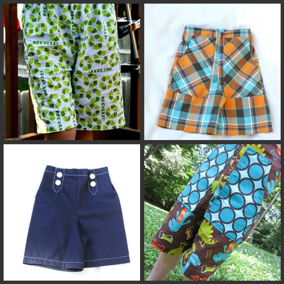 Whimsy Couture Boys Shorts Sewing Pattern Tutorial sizes nb - 8 PDF