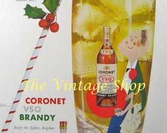 Coronet VSQ Brandy Butler..1950s Vintage Advertising E128