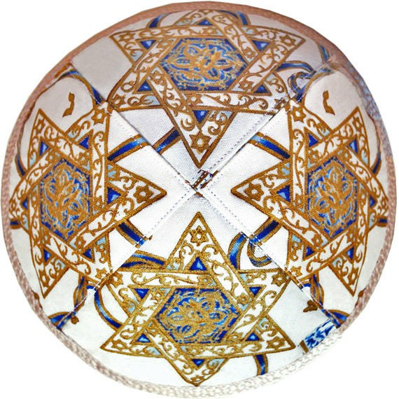 Kippah / yarmulke with Stars of David
