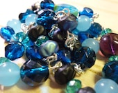 necklace Caribbean Blues w/ Vintage Glass