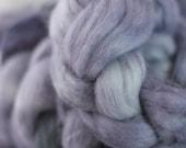Baby alpaca combed tops in Storm - UK Seller
