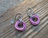 Pink Celtic Rose Earrings (PRICE REDUCED)