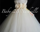 Flower Girl Dress Ivory  ...