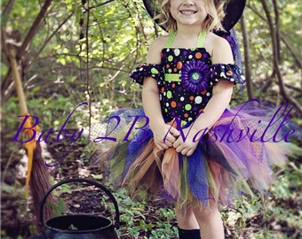 Baby Witch Costume Tutu Costume Halloween Witch Baby Tutu Costume  Witch Halloween Costume Tutu Set All Sizes Top, Tutu and Arm Cuffs