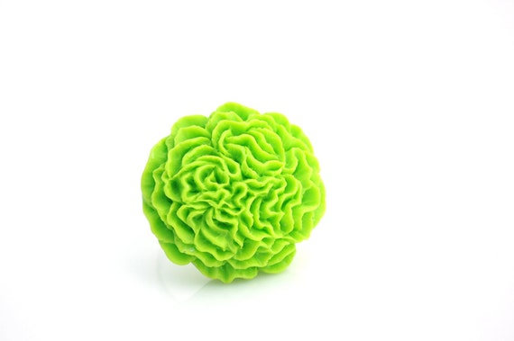 Lime Green Pom Pom Ring