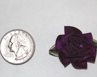 Plum Satin Ribbon Carnation Roses - 32 pieces