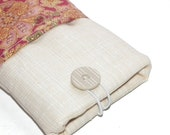 Pink paisley iPhone pouch with pocket for key, bank card, cash, etc
