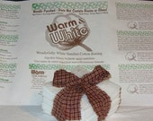50 5.5 inch Warm and White Quilt Batting Squares for Rag Quilting