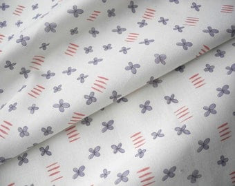 Tiny blue flower, fat quarter, cotton fabric, hand drawn, limited edition