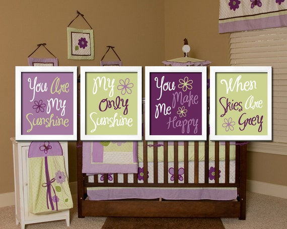 You Are My Sunshine Wall Art Canvas Artwork Cute By TrmDesign