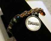 CLEARANCE! ONE 'Dream' Hemp Bracelet -adjustable by tying-one size fits all-