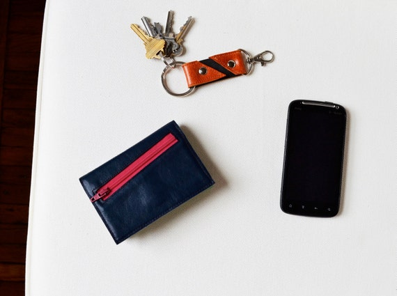 The Small Francis Wallet in Navy