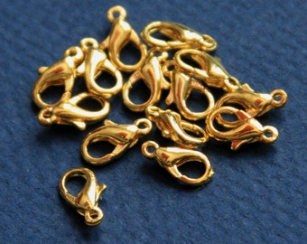 50 pcs of gold plated clasp zinc alloy clasp 10X5.5mm