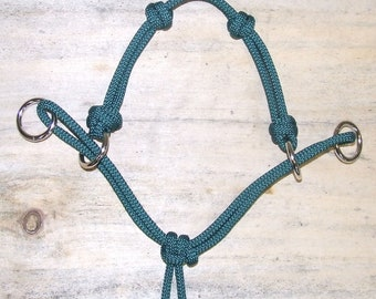 NEW- 4 Knot MODIFIED Horse Side Pull Rope Hackamore Bridle Attachment for Bitless Riding