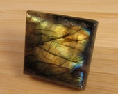 Labradorite Gemstone Cabochon- Large Square- 24.5mm  35ct.