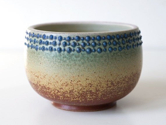Spotted Turquoise Bowl, Stoneware