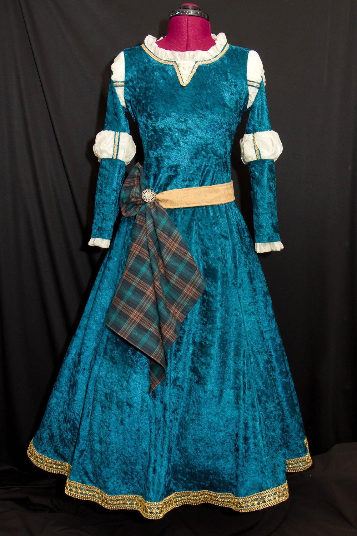 Princess merida custom made adult costume - Costume princesse disney adulte ...