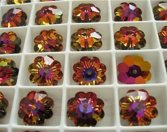 6 Crystal Volcano Swarovski Margarita Beads 3700 12mm