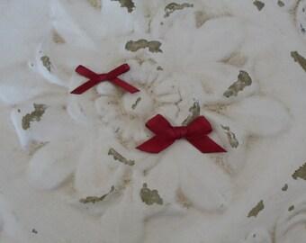 Newborn/ Infant Satin Bows--Set of 17