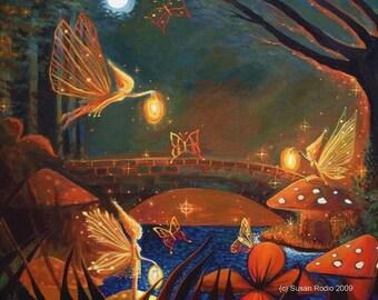 Fairy Gathering 6 x 8 Gloss Fantasy Art Print